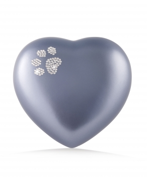Urne animaux edition crystal - coeur  Couleur: Gris