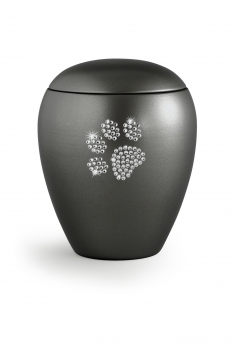 Pet urns Crystal  Color: Anthracite with paw