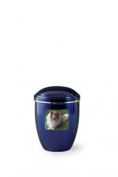 Option: personalized urn with photo medallion - rectangular or square format