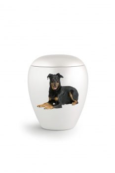 Option: personalized urn with photo transfer - outline format