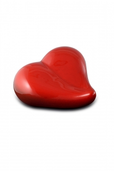 Pet urn heart red large