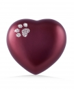 Urne animaux edition crystal - coeur  Couleur: Rouge
