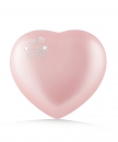 Ceramic Urns Animal Heart Pearl Swarovski Crystal Paw Color:  rose
