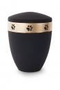 Ash urn edition Luna color : black with paw gold strip