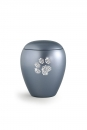 Pet urns Crystal  Color:  Grey with paw